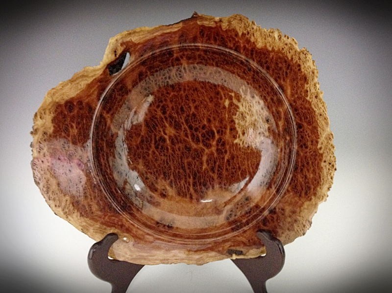 Red Morell Burl Natural Edge Platter